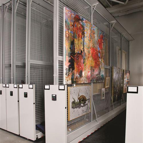 Vertical Art Storage Racks at Meadows Museum