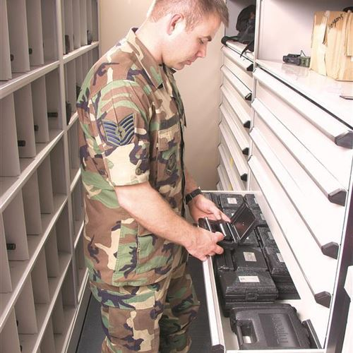 Pope Air Force Base Relies on Mobile Shelving for Secure and Efficient Storage