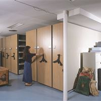 Archive Storage on Mechanical-Assist Mobile Storage System at Philmont Scout Ranch
