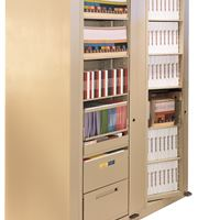 Rotary Filing Cabinet with Binders, books and files