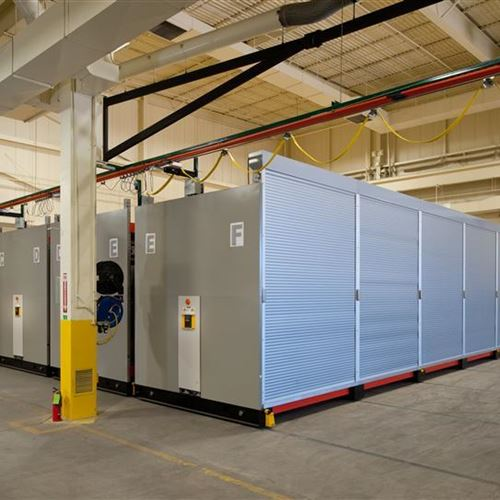 BOM Container Inserts Securely Stored on Industrial Shelving System at Fort Carson