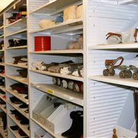 Collections storage at The Galt Museum