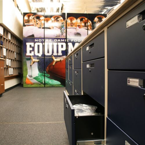 Spacesaver high Density Mobile Athletic Equipment Storage