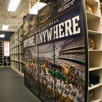 Football Equipment Storage at Notre Dame