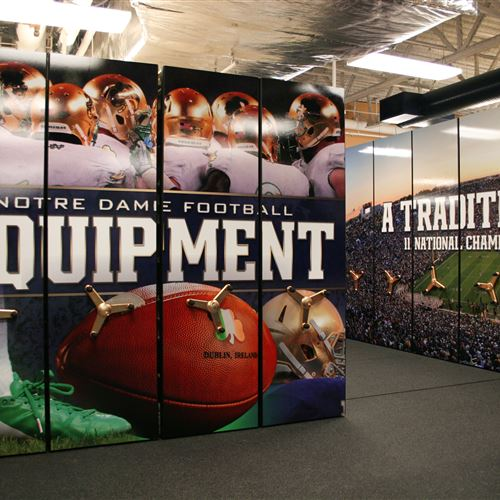 Compact Mobile Athletic Equipment Storage at Notre Dame