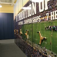 Custom Graphics for Compact Football Equipment Storage System