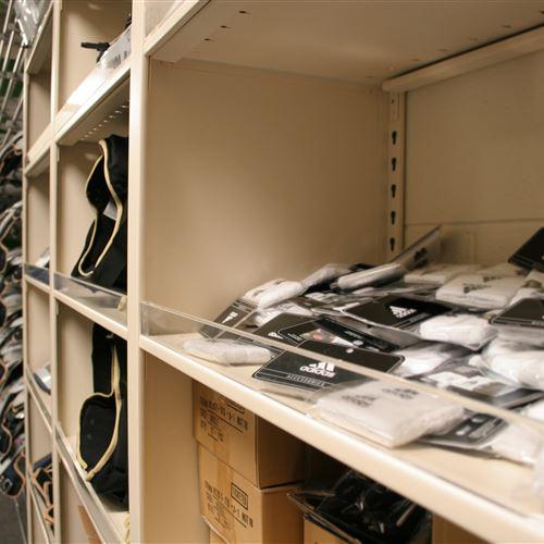 Shoulder Pad Storage for the University of Notre Dame