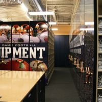 Mobile Shelving for Notre Dame Football