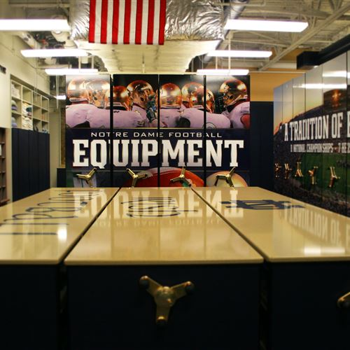 Athletic Equipment Storage Room at University of Notre Dame