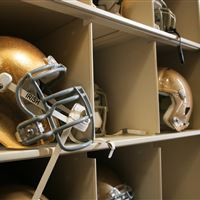 Helmet athletic storage on high density shelving
