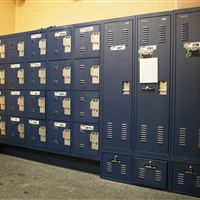 Personal Storage Lockers in the Notre Dame Equipment Room