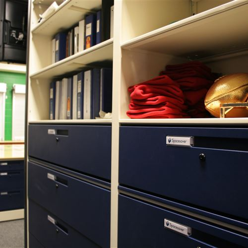 Shelving and Drawer storage for Athletic Equipment
