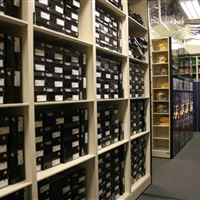 Athletic Shoe Storage on High Density Mobile Shelving