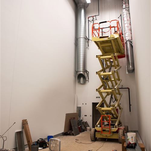 Interior of Archive Facility Before XTend Mobile High-Bay Shelving Install